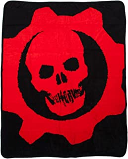 Bioworld Men's Gears Of War Logo Throw Blanket