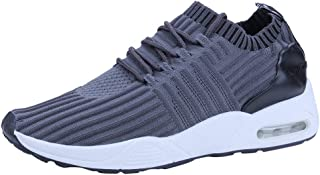 Yamall Men'S Summer Mesh Breathable Sneakers Red Korean Version Of The Trend Air Cushion Casual Shoes Flying Woven
