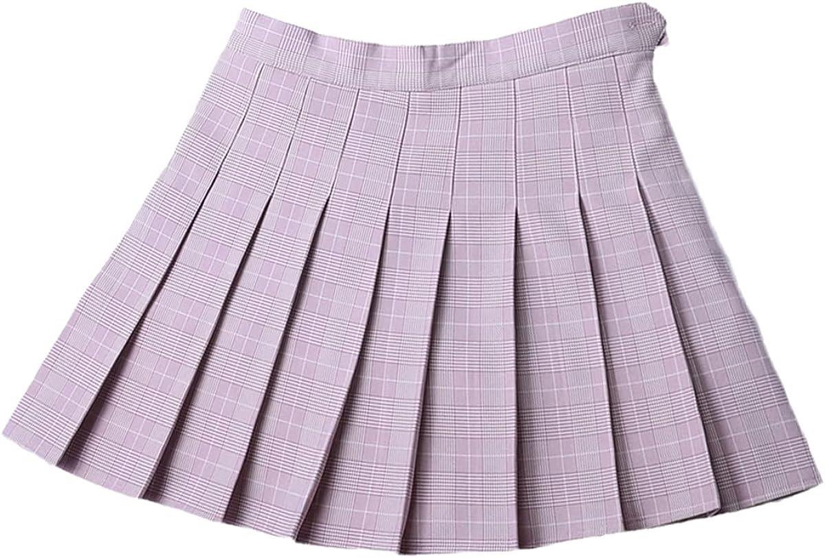 Summer Plaid Pleated Women's Mini Skirt Harajuku Ladies Casual Japanese Kawaii Cute Skirt Student Uniform Sailor Skirt
