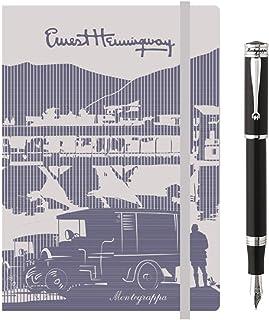 taccuino Hemingway con elastico Kit scrittura Penna Ispirata e Dedicata a VENEZIA Palazzo Ducale Notebook MONTEGRAPPA Collezione Capsule DUCALE Penna Stilografica Punta Media
