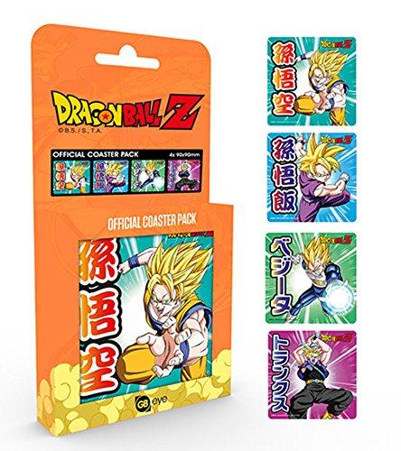 empireposter Dragon Ball Z Mix Ensemble de sous-Verres 10 x 10 cm 4 pièces dans Emballage Cadeau, Coaster – Set