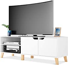 Homfa Mueble TV Salón Mesa para TV con 2 Puertas 2