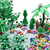 """Sawaruita Garden Park Building Block Toy Set,Flower Botanical Scenery Accessories 450 + , Compatible All Major Brands(Including 2Pack of 5"""" x 5"""" Base Plate (A) #2"""