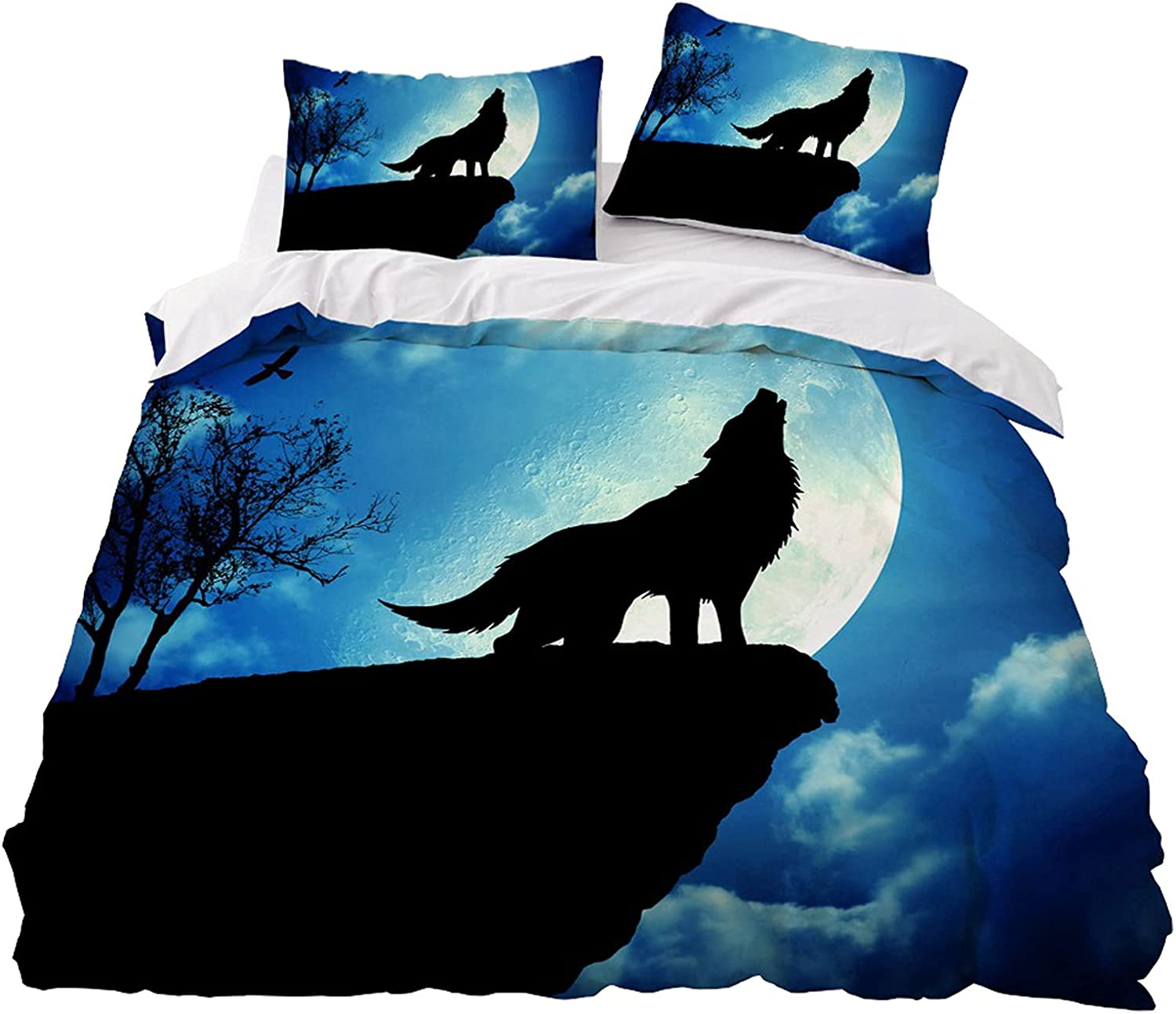 Galaxy Wolf security Charlotte Mall Duvet Cover Sets 3D Animal Kids Ult Set Bedding