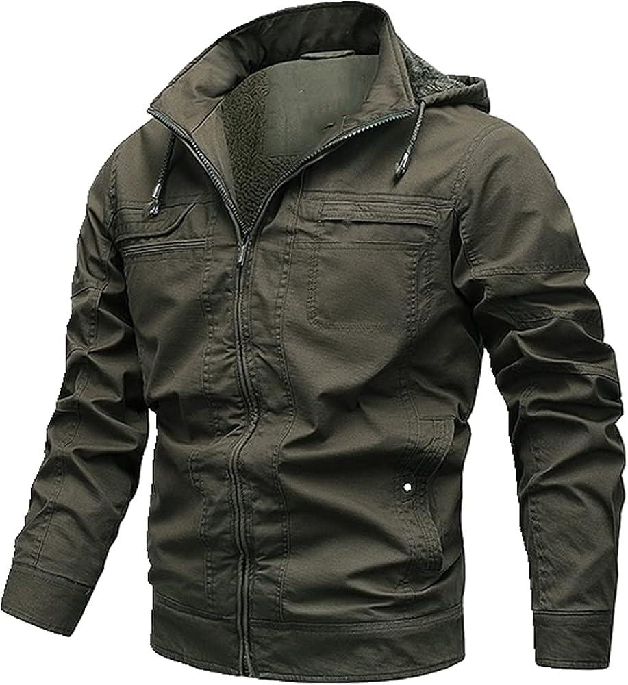 Men Hooded Outwear Coats Winter Men