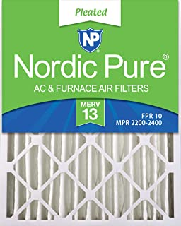 Nordic Pure 16x25x4 (3-5/8 Actual Depth) MERV 13 Pleated AC Furnace Air Filters, 1 Pack
