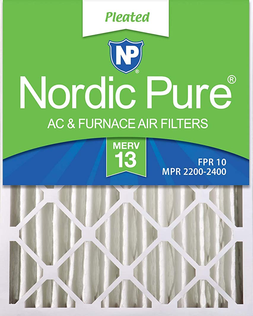 Nordic Pure 16x20x4 (3-5/8 Actual Depth) MERV 13 Pleated AC Furnace Air Filter, Box of 1