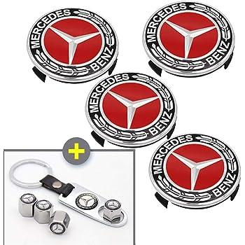 Mercedes Benz 75mm 3 pins 4 PCS Wheel Center Hub Caps Cover Cap Car Logo Emblem