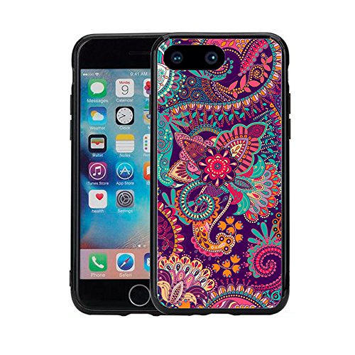 Paisley Flower Print for iPhone 7 Plus (2016) & iPhone 8 Plus (2017) (5.5) Case Cover by Atomic Market