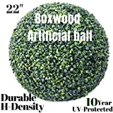 """Hedge Maze Artificial Boxwood Ball, Amazing 22"""" Faux Topiary Ball, Outdoor/Indoor Artificial Plant Large Topiary Balls for Wedding Decor and Home Decor (22 inch Boxwood Ball)"""