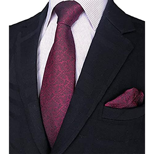b14437dd68054 100% Silk Ties Necktie Set for Men Handmade Tie and Pocket Square Set with  Gift