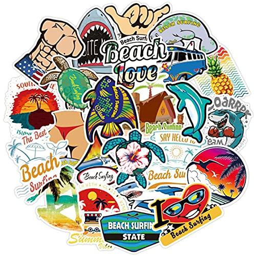 Ligoi 100 PequeñO Fresco Verano Playa Vacaciones Ins Viento Pegatina Trolley Caso PortáTil Doodle Pegatinas Juguetes para NiñOs DecoracióN De ArtíCulos