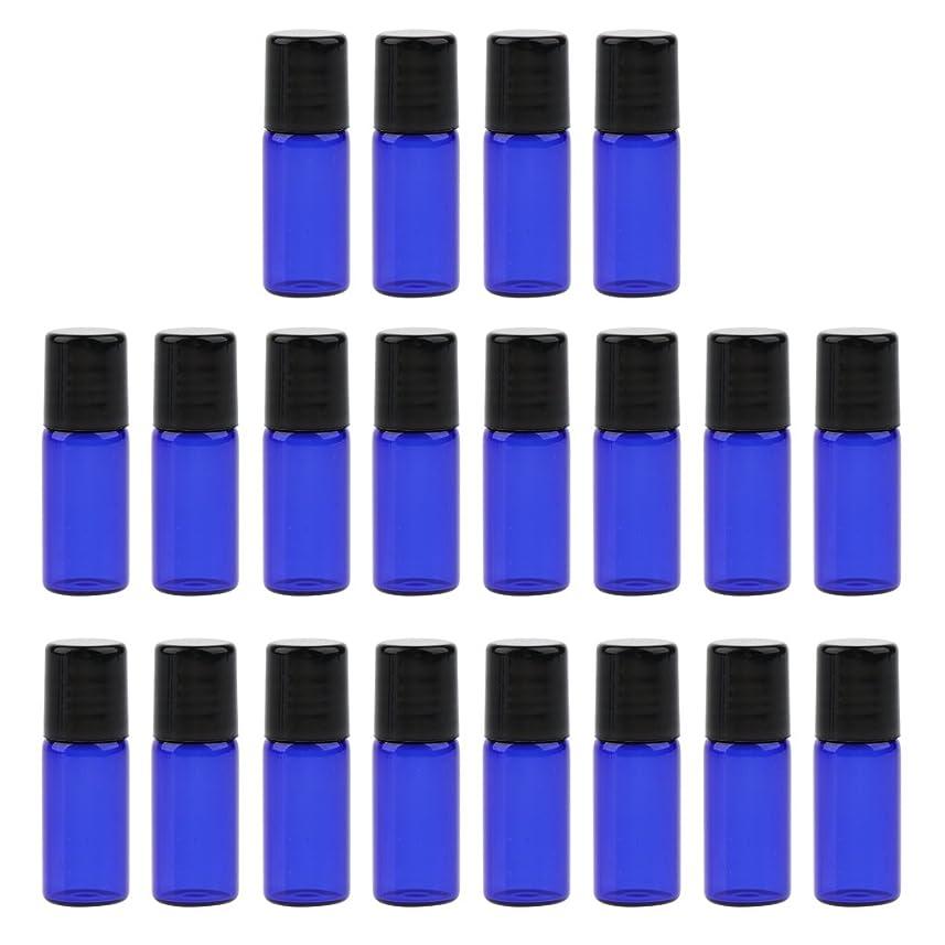 器具どれ追放するBaosity 約20個 ローラーボトル オイルボトル コスメ オイル 香水 詰替え 持ち込み便利 旅行小物 3サイズ選べ - 3 ミリリットル