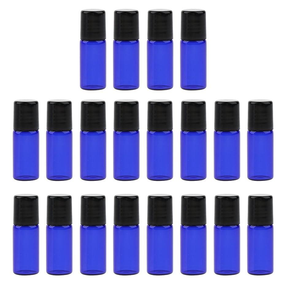 ロバ一節批判的にBaosity 約20個 ローラーボトル オイルボトル コスメ オイル 香水 詰替え 持ち込み便利 旅行小物 3サイズ選べ - 3 ミリリットル