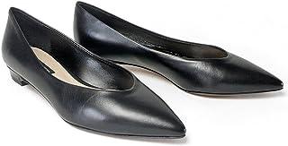 [ファビオルスコーニ] ナッパレザー ポインテッドトゥ パンプス ヒール2cm 3384-leather 35 NERO(ブラック)