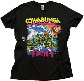 Junk Food TMNT Cowabunga Surfing Adult Black T-Shirt