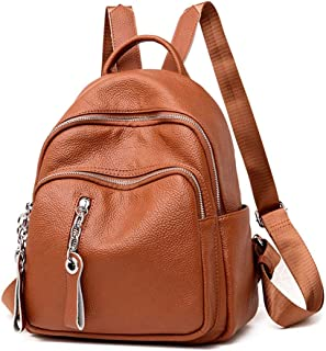 XHHWZB Fashion Handbag, Backpack Lychee PU Leather Personality Casual Female Bag High Quality Soft PU Leather + Nylon Lining