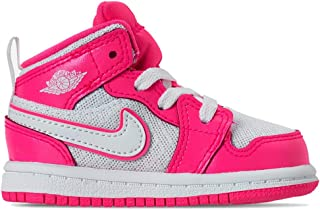 644507-611: Toddler's 1 Mid Hyper Pink/White/White Sneakers