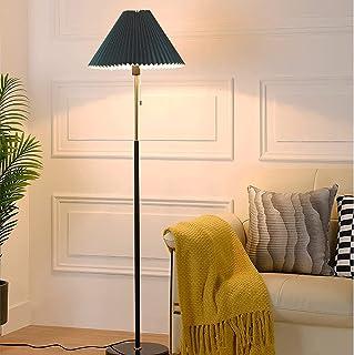 FMYZI Lampadaire Personnalisé En Forme de Parapluie Couverture En Tissu Plissé Simplicité E27 Lampe Standard Base En Marbr...