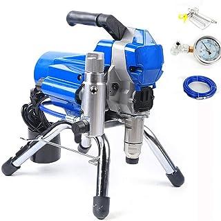 Sistema de pulverización de pintura Airless de 2200 W, 1,8 l/min, 3000 psi, alta presión, para interior y exterior (azul)