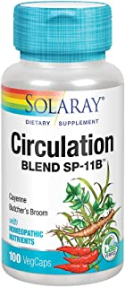 Solaray Circulation Blend SP-11B | Herbs & Cell Salt for Healthy Circulatory System Support | 50 Servings | 100 VegCaps
