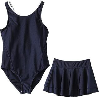 スクール水着 ワンピース キッズ 水着 女の子 スカート付き UVカット [57]