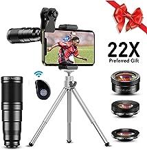Apexel Phone Camera Lens Kit,22X Telephoto Lens, 205°...