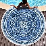 JNMG Toalla de playa redonda con diseño de mandala, 150 x 150 cm, multiusos, toalla XXL...