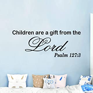 AnFigure Wall Decals for Kids, Christian Wall Decal, Baby Bible Verse Faith Prayer God Quotes Scripture Biblical Religious...
