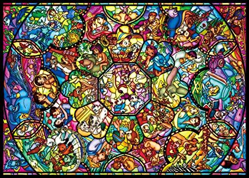 2000ピース ジグソーパズル ディズニー オールスター ステンドグラス(73x102cm)