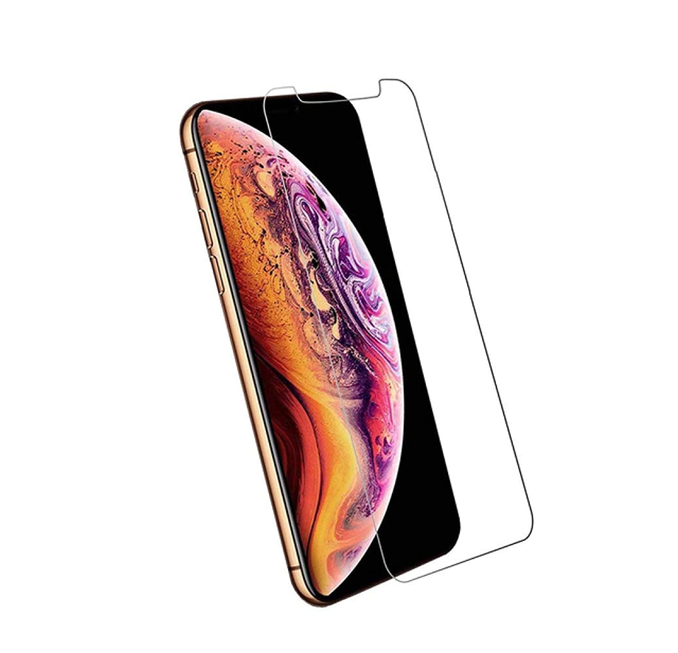 Screen Protector for iPhone Xs/X [2-Pack] Premium Tempered Glass Pro+ 0.33mm 2.5D 9H Glass Easy Install 5.8in Anti-Fingerprint Gorilla Durable Glass Shatter Proof 3D Ultra Clarity Gaming Display 2019