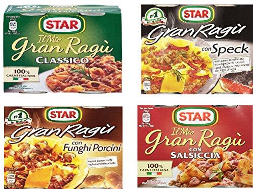 4x Il mio Gran ragù Star testset italienich tomatensauce 2x 180g sauce Tomaten