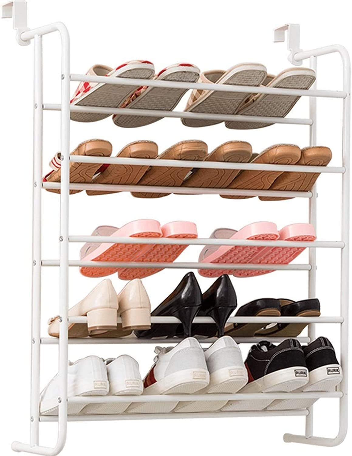 shoes Rack Storage Rack Hanging Multi-Layer shoes Rack Large-Capacity Anti-Corrosion Anti-Rust shoes Tower Home Stable Storage Rack (color   White, Size   65.5  22.4  88CM)