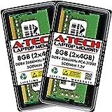A-Tech 8GB (2x4GB) DDR4 2666MHz SODIMM PC4-21300 Non-ECC CL19 1.2V 260-Pin SO-DIMM Laptop Notebook Computer RAM Memory Upgrade Kit