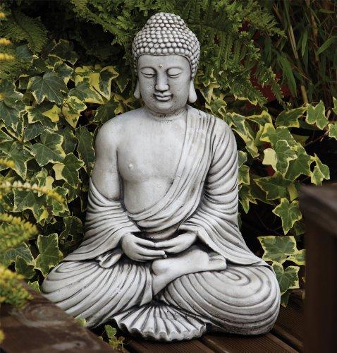 Statues & Sculptures Online Large Garden Ornaments - Serene Thai Stone Buddha Statue