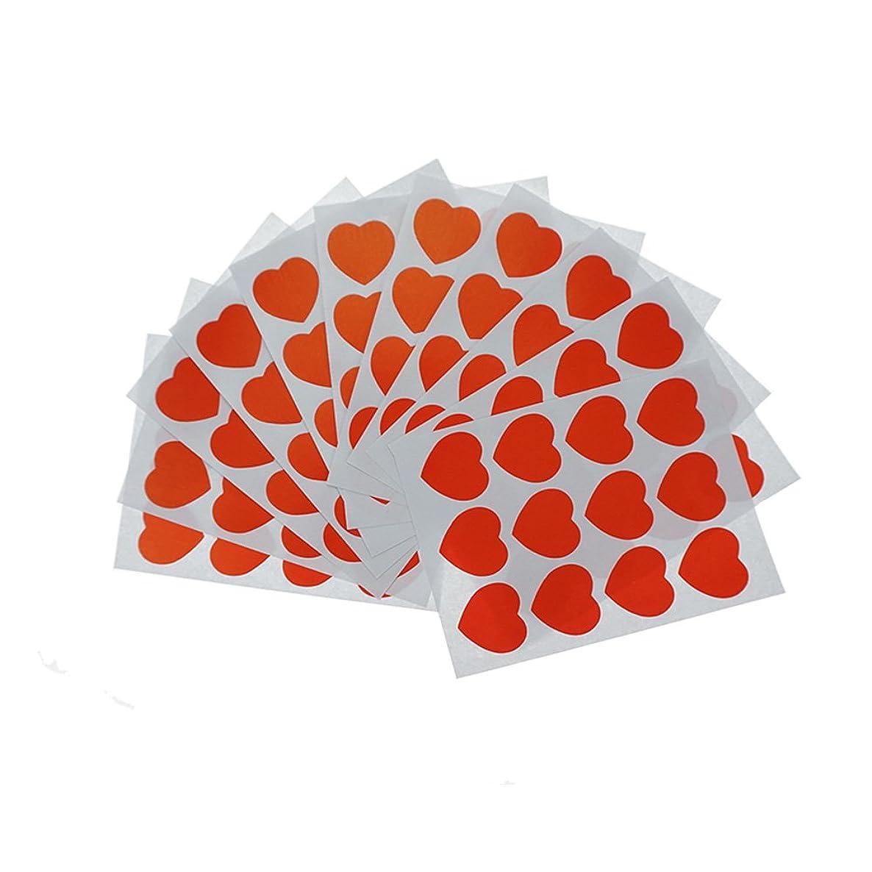 Shxstore Kawaii Red Heart Scrapbook Stickers Decals Envelope Seals, 12 Sheets, 144 Decals