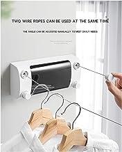 MYLOVE Telescopic stealth clothesline non-porous balcony indoor stainless steel clothesline bathroom