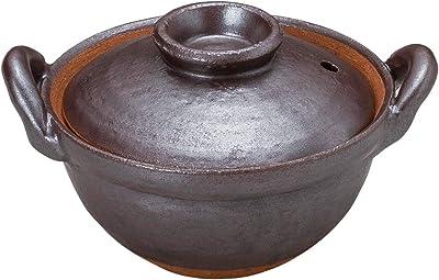 山下工芸 土鍋 陶器 15.5×φ12.5×8.8cm(身6cm) 鉄結晶4号鍋 15034430