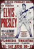 Elvis Presley Concert Florida Theatre Metall Blechschild