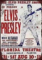 Elvis Presley Concert Florida Theatre ティンサイン ポスター ン サイン プレート ブリキ看板 ホーム バーために