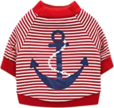 Dress Clothes Vest Costume for small Dog Puppy Cat Fancy Paws Stripe Anchor-Red M