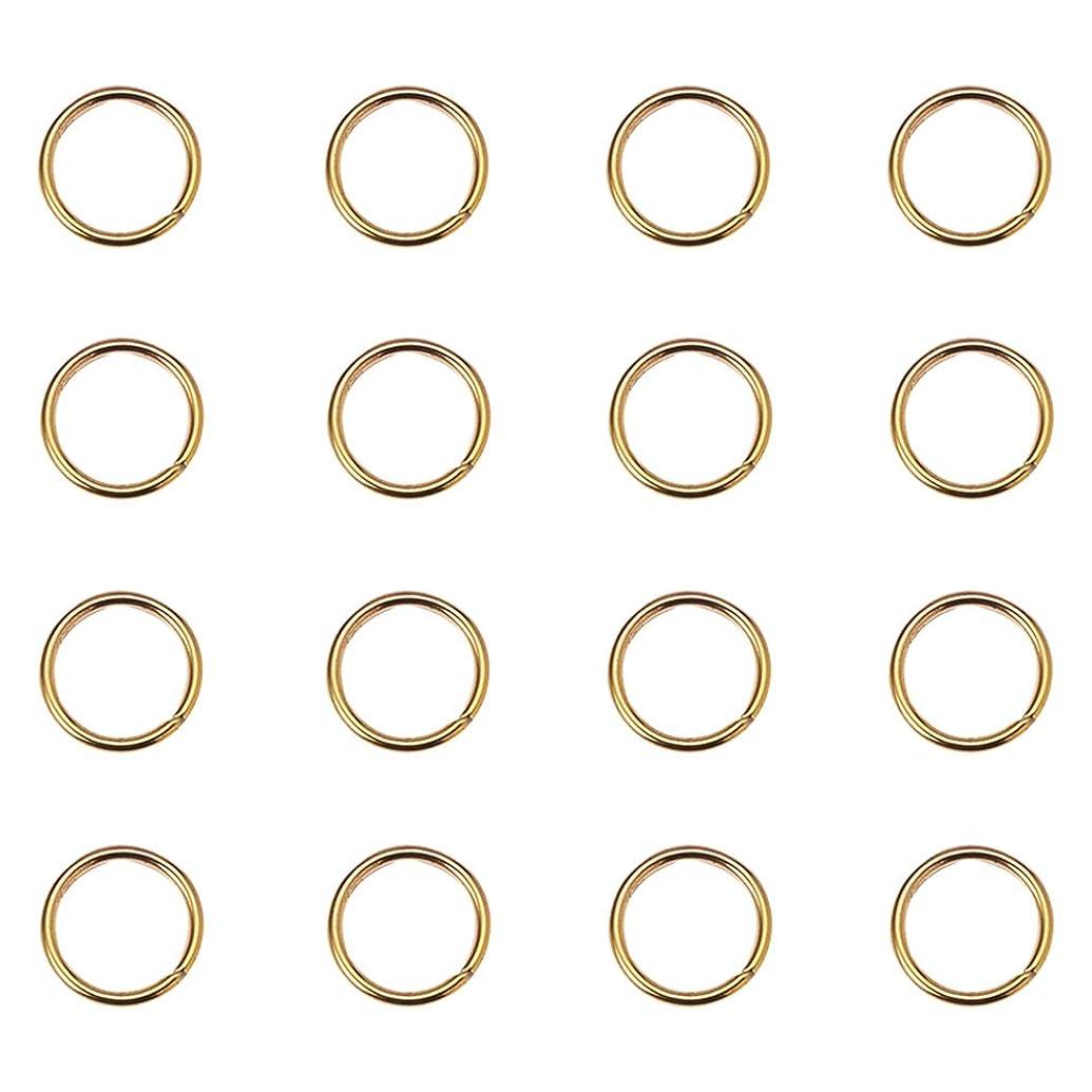 PandaHall Elite 260Pcs Brass Jump Rings Close but Unsoldered Golden 10mm Diameter Jewelry Making Findings