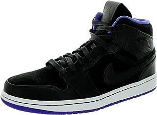 NIKE Air Jordan 1 Mid Nouveau Men's Shoes Black/Dark Concord/White 629151-018 (SIZE: 11)