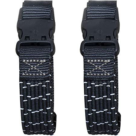 ROK Straps 10025 Adjustable Stretch Strap Tie Downs for Motorcycle//ATV 60 Black