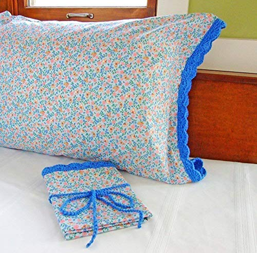 Standard Pillowcase With Crocheted Edge