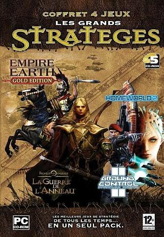 Pack Strategy Games : Empire Earth Gold Edition + Ground Control 2 + Homeworld 2 + La guerre de l'anneau