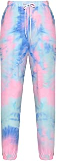 U/K Women's Tie Dyed Casual Drawstring Elastic Waist Jogging Pants