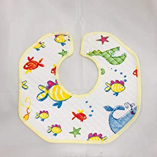 BABY APRON WITH CUTE ANIMALS DESIGNS 3 PIECE SET