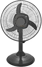 Starvin Happy Home    IS Laurels    Mini Pedestal Fan    ISI Approved Copper Motor    1 Year Warranty    Sweep- 300 MM, 12 Inches,metal body Gray Cyclone G-85