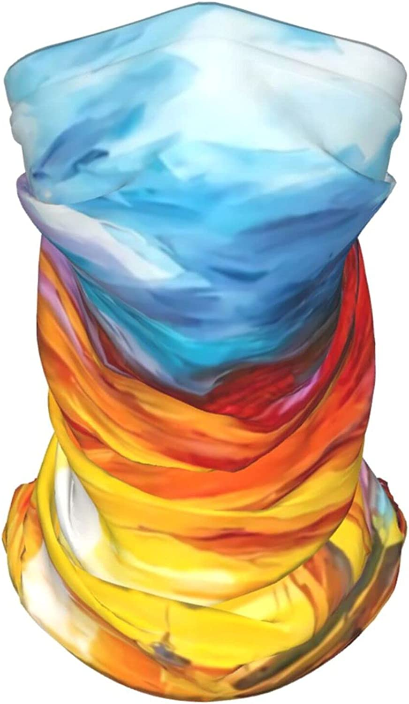 Sunset Neck Gaiter Multipurpose Headwear Ice Silk Mask Scarf Summer Cool Breathable Outdoor Sport 4 Pcs